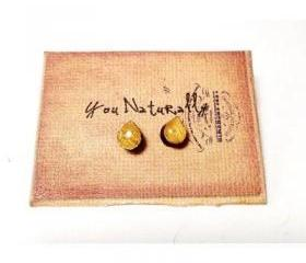 Golden Teardrop Earrings