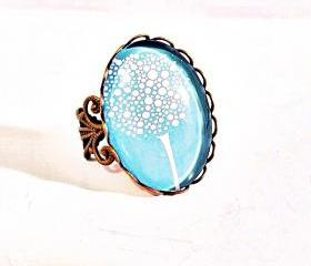 Adjustable Cabochon Tree Ring 